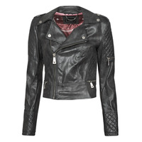 material Women Leather jackets / Imitation le Guess YVETTE JACKET Black