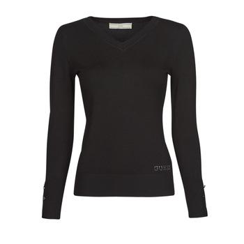 material Women jumpers Guess GENA VN LS SWTR Black