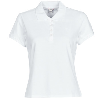 material Women short-sleeved polo shirts Guess ES SS GUESS LOGO PIQUE POLO White