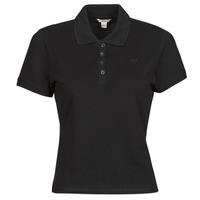 material Women short-sleeved polo shirts Guess ES SS GUESS LOGO PIQUE POLO Black