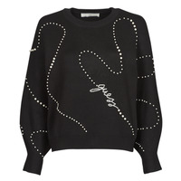material Women jumpers Guess GINNY RN LS SWTR Black