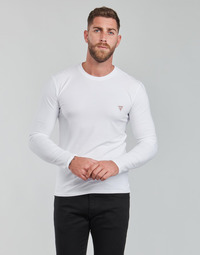 material Men Long sleeved shirts Guess CN SS CORE TEE STRETCH White