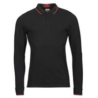 material Men long-sleeved polo shirts Guess STU LS POLO Black