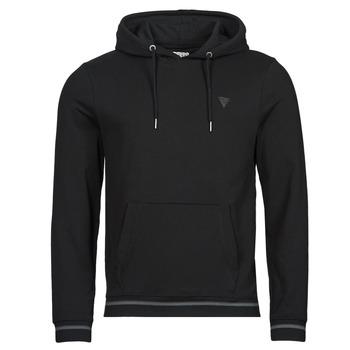 material Men sweaters Guess CHRISTIAN HOODIE FLEECE Black