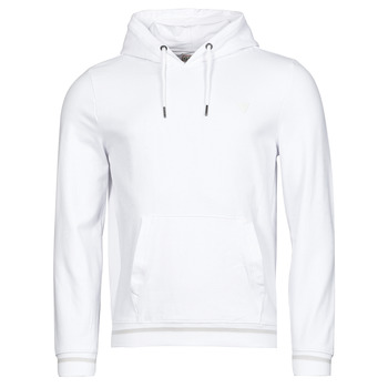 material Men sweaters Guess CHRISTIAN HOODIE FLEECE White