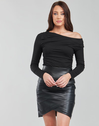 material Women Long sleeved shirts Guess LS OFF SHLDR ISSA TOP Black