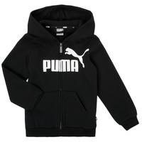 material Boy sweaters Puma ESSENTIAL BIG LOGO FZ HOODIE Black