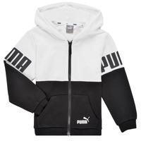 material Boy sweaters Puma PUMA POWER FZ HOODIE Black / White