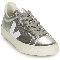 Shoes Women Low top trainers Veja CAMPO Silver / White
