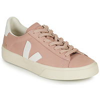 Shoes Women Low top trainers Veja CAMPO Pink / White