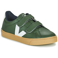 Shoes Children Low top trainers Veja SMALL ESPLAR VELCRO Green / White