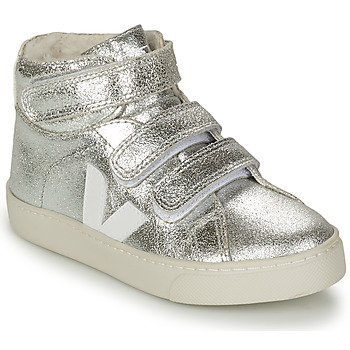 Shoes Girl High top trainers Veja SMALL ESPLAR MID FUR Silver / White