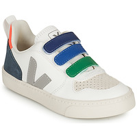 Shoes Children Low top trainers Veja SMALL V-10 VELCRO White / Grey