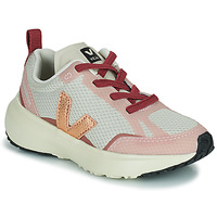Shoes Girl Low top trainers Veja SMALL CANARY White / Pink