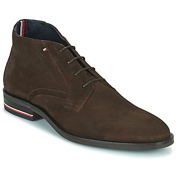 Shoes Men Mid boots Tommy Hilfiger SIGNATURE HILFIGER SUEDE BOOT Brown