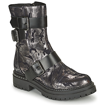 Shoes Women Mid boots Metamorf'Ose KALOPE Silver