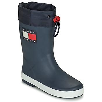 Shoes Children Wellington boots Tommy Hilfiger T3X6-30766-0047800 Marine