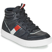 Shoes Boy High top trainers Tommy Hilfiger T3B4-32066-0900800 Marine