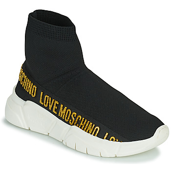 Shoes Women High top trainers Love Moschino JA15633G0D Black