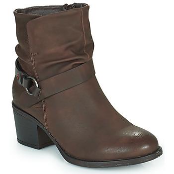 Shoes Women Ankle boots Emmshu FLEUR Brown