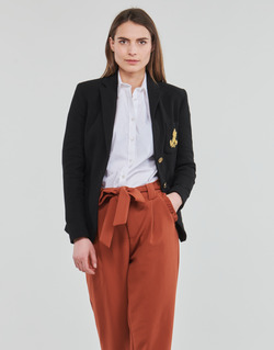 material Women Jackets / Blazers Lauren Ralph Lauren ANFISA-LINED-JACKET Black