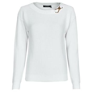material Women jumpers Lauren Ralph Lauren YAMINAH-LONG SLEEVE-SWEATER White