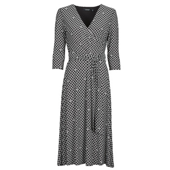 material Women Long Dresses Lauren Ralph Lauren CARLYNA-3/4 SLEEVE-DAY DRESS Black
