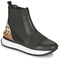 Shoes Women High top trainers Gioseppo LUNNER Black / Leopard