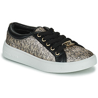 Shoes Girl Low top trainers MICHAEL Michael Kors JEM MIRACLE SHIMMER Black / Gold