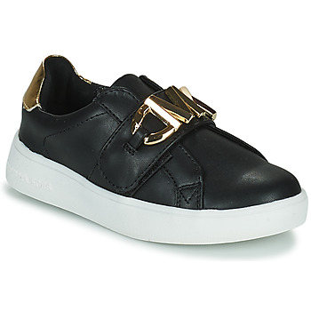Shoes Girl Low top trainers MICHAEL Michael Kors JEM MK Black / Gold