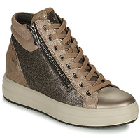 Shoes Women High top trainers IgI&CO DONNA SHIRLEY Beige / Gold