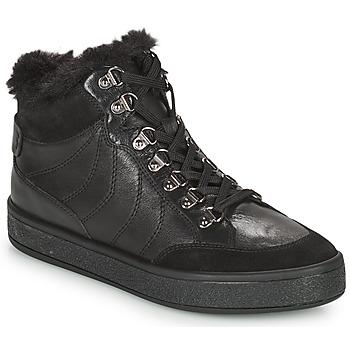 Shoes Women Mid boots Geox LEELU Black