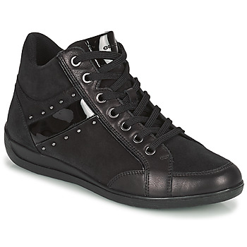 Shoes Women High top trainers Geox MYRIA Black