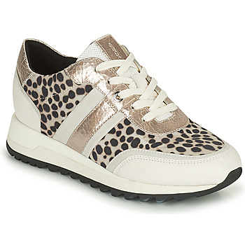 Shoes Women Low top trainers Geox TABELYA White / Black / Silver