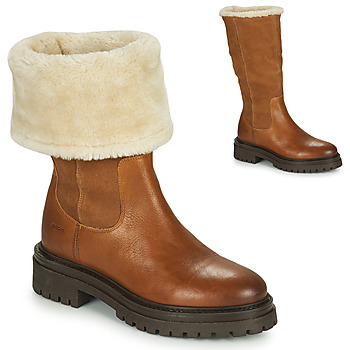 Shoes Women Mid boots Geox IRIDEA Brown