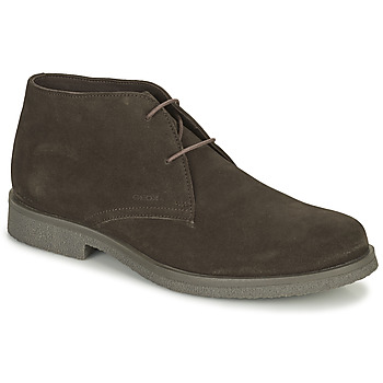 Shoes Men Mid boots Geox CLAUDIO Brown