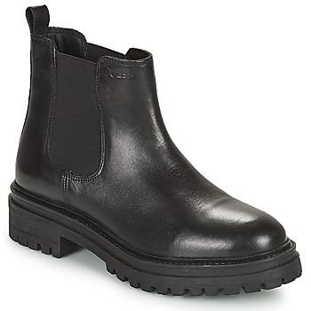 Shoes Women Mid boots Geox IRIDEA Black