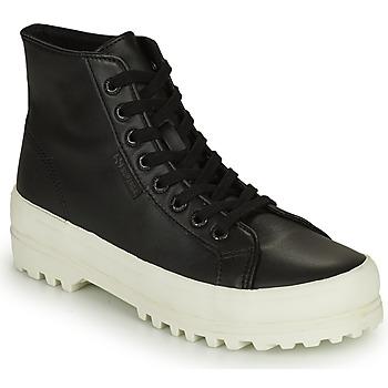 Shoes Women High top trainers Superga 2341 ALPINA NAPPA Black