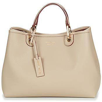 Bags Women Handbags Emporio Armani MYEA BORSA SHOPPING Beige