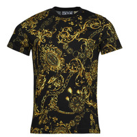material Men short-sleeved t-shirts Versace Jeans Couture PRINT BIJOUX BAROQUE Black / Printed / Baroque
