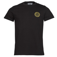 material Men short-sleeved t-shirts Versace Jeans Couture VEMBLEM S EMBRO GOLD Black / Gold