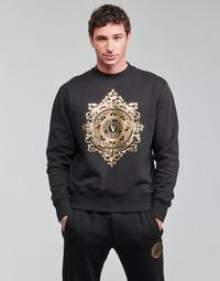 material Men sweaters Versace Jeans Couture VEMBLEM LEAF Black / Gold