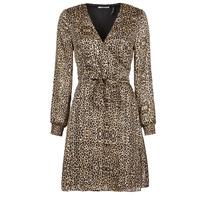 material Women Short Dresses Les Petites Bombes CECILIE Leopard
