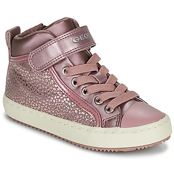 Shoes Girl High top trainers Geox KALISPERA Pink