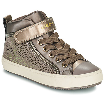 Shoes Girl High top trainers Geox KALISPERA Gold