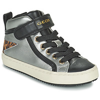 Shoes Girl High top trainers Geox KALISPERA Silver