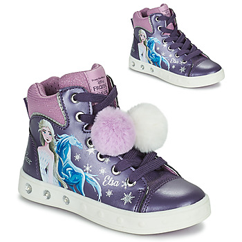 Shoes Girl High top trainers Geox SKYLIN Violet