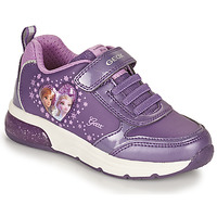 Shoes Girl Low top trainers Geox SPACECLUB Violet