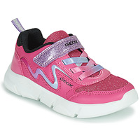 Shoes Girl Low top trainers Geox ARIL Pink / Violet