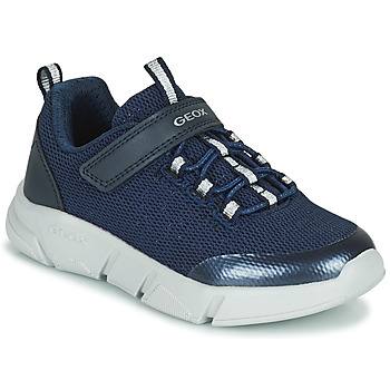 Shoes Girl Low top trainers Geox ARIL Blue